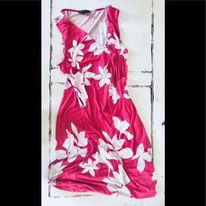 Tommy Bahama hot pink floral Dress Large